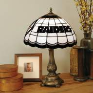 Las Vegas Raiders NFL Stained Glass Table Lamp