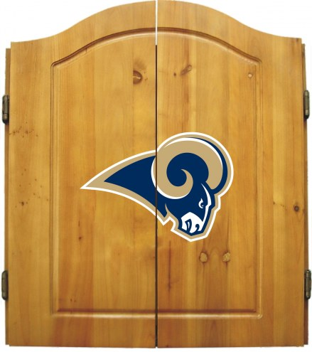Los Angeles Rams NFL Complete Dart Board Cabinet Set (w/darts & flights)