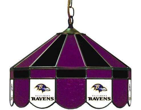 "Baltimore Ravens NFL Team 16"" Diameter Stained Glass Pub Light"