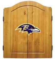 Baltimore Ravens NFL Complete Dart Board Cabinet Set (w/darts & flights)