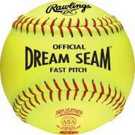 "Rawlings 12"" Pro Leather Dream Seam ASA/NFHS Softball - Dozen"
