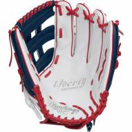 "Rawlings Liberty Advanced 13"" Fastpich Softball Glove - White/Navy/Scarlet - Right Hand Throw"