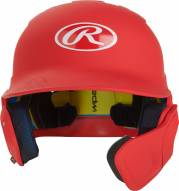 Rawlings Mach Junior One-Tone Left Flap Baseball Batting Helmet - Right Handed Batter