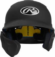 Rawlings Mach Junior One-Tone Right Flap Baseball Batting Helmet - Left Handed Batter