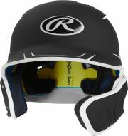Rawlings Mach Senior 2-Tone Left Flap Baseball Batting Helmet - Right Handed Batter