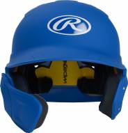 Rawlings Mach Senior One-Tone Right Flap Baseball Batting Helmet - Left Handed Batter