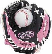 "Rawlings Players Series 9"" Youth Pink Tee Ball Glove with Ball - Right Hand Throw"
