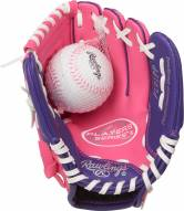 """Rawlings Players Series 9"""" Youth Tee Ball Glove with Ball - Right Hand Throw"""