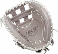 """Rawlings R9 33"""" Pull-Strap Back Fastpitch Softball Catcher's Mitt - Right Hand Throw"""