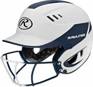 Rawlings Velo 2-Tone Matte Junior Softball Helmet with Faceguard Attached