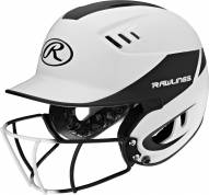 Rawlings Velo 2-Tone Matte Senior Softball Helmet with Faceguard Attached