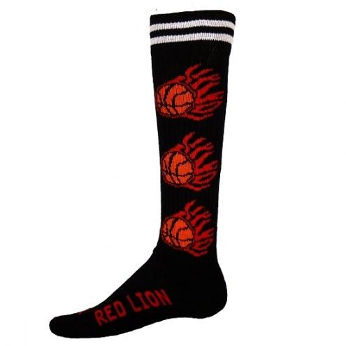 Red Lion Adult Flaming Basketball Socks