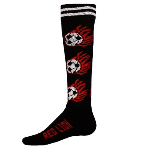 Red Lion Adult Flaming Soccer Ball Socks