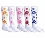 Red Lion Flowers Adult Socks - Sock Size 9-11