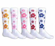 Red Lion Flowers Youth Socks - Sock Size 6-8.5