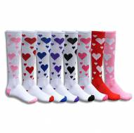 Red Lion Hearts Adult Socks - Sock Size 9-11