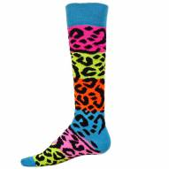 Red Lion Rainbow Leopard Over the Calf Socks