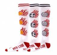 Red Lion White Heat Adult Soccer Socks