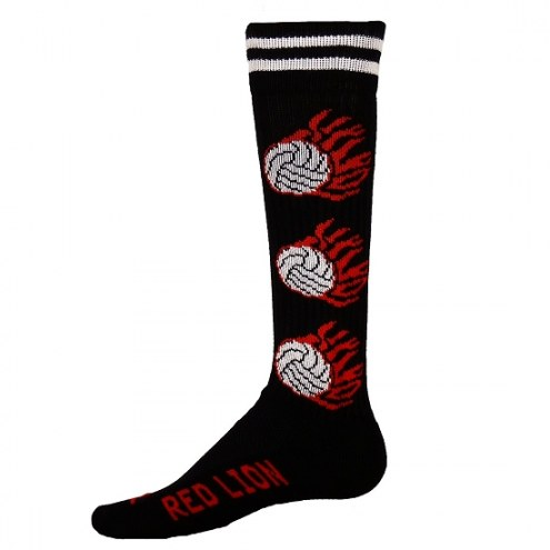 Red Lion Youth Flaming Volleyball Socks