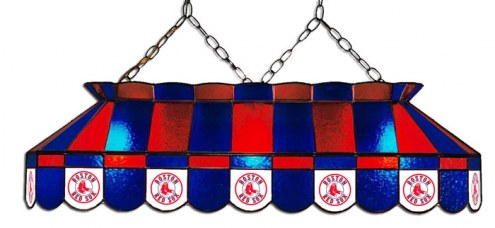 "Boston Red Sox MLB Team 40"" Rectangular Stained Glass Shade"