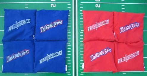 Tailgate Toss Replacement Bean Bag Set - Blue & Red