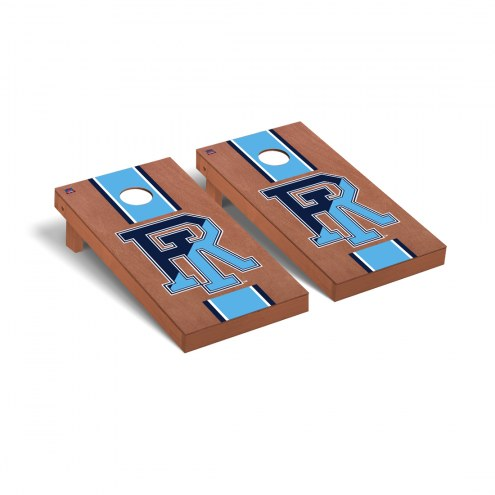 Rhode Island Rams Rosewood Stained Cornhole Game Set