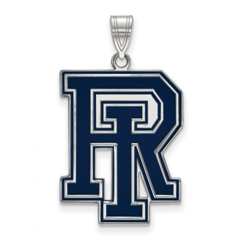 Rhode Island Rams Sterling Silver Extra Large Enameled Pendant