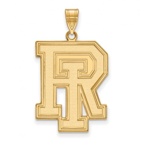 Rhode Island Rams Sterling Silver Gold Plated Extra Large Pendant