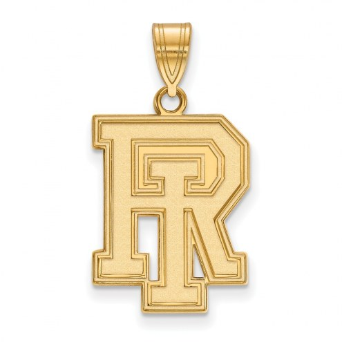 Rhode Island Rams Sterling Silver Gold Plated Large Pendant