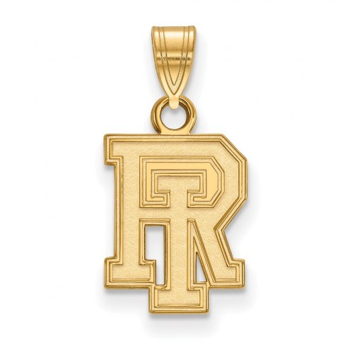 Rhode Island Rams Sterling Silver Gold Plated Small Pendant