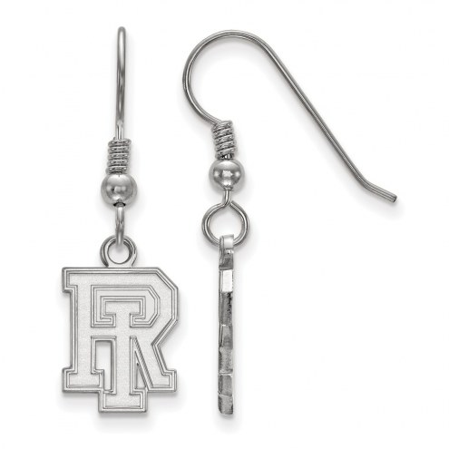 Rhode Island Rams Sterling Silver Small Dangle Earrings
