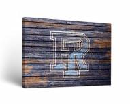 Rhode Island Rams Weathered Canvas Wall Art