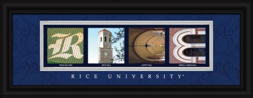 Rice Owls Campus Letter Art