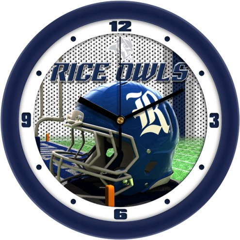 Rice Owls Football Helmet Wall Clock