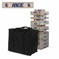 Rice Owls Giant Wooden Tumble Tower Game
