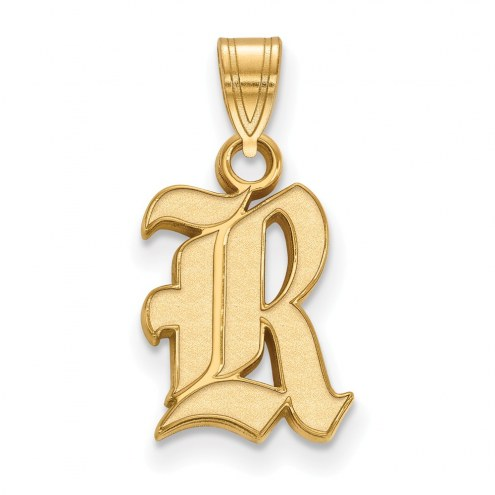 Rice Owls NCAA Sterling Silver Gold Plated Small Pendant