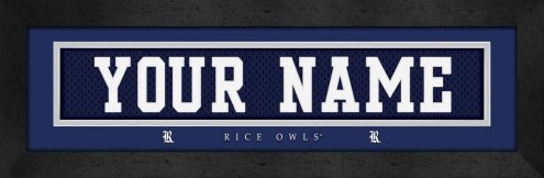 Rice Owls Personalized Stitched Jersey Print