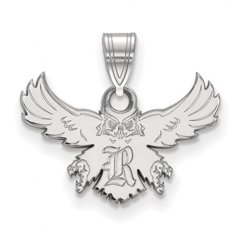 Rice Owls Sterling Silver Small Pendant
