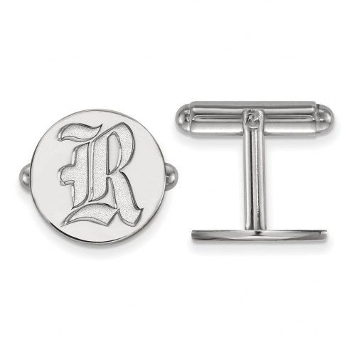 Rice Owls Sterling Silver Cuff Links