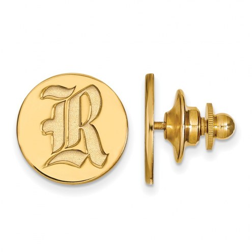 Rice Owls Sterling Silver Gold Plated Lapel Pin