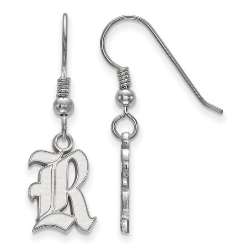 Rice Owls Sterling Silver Small Dangle Earrings