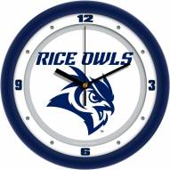 Rice Owls Traditional Wall Clock