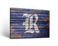 Rice Owls Weathered Canvas Wall Art