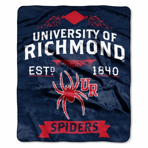 Richmond Spiders Label Raschel Throw Blanket