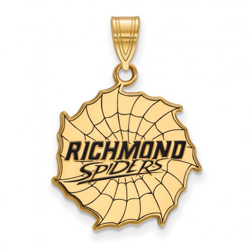 Richmond Spiders Sterling Silver Gold Plated Large Enameled Pendant