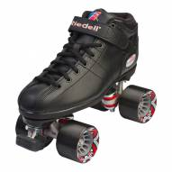 Riedell R3 Black Speed Roller Skates