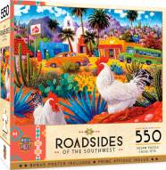 Roadsides of the Southwest Gallos Blancos 550 Piece Puzzle