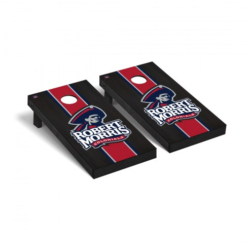 Robert Morris Colonials Onyx Stained Cornhole Game Set