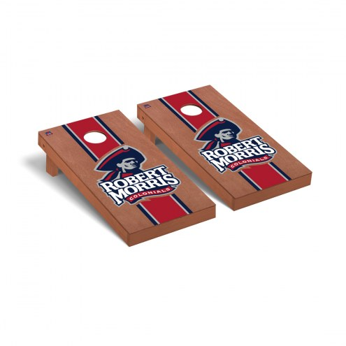 Robert Morris Colonials Rosewood Stained Stripe Cornhole Game Set