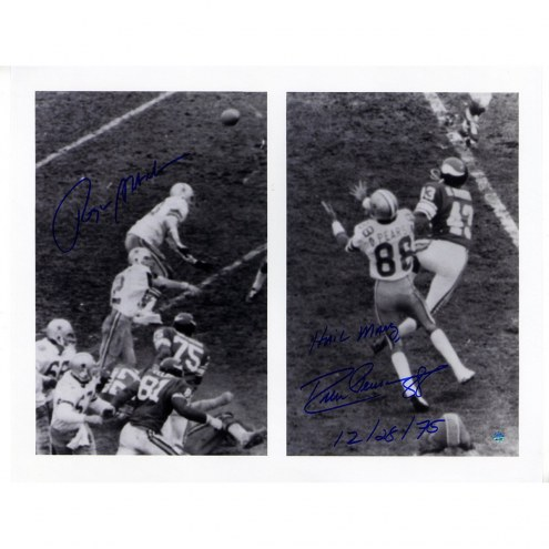 "Roger Staubach/Drew Pearson Dual Signed 'Hail Mary' 16 x 20 Photo w/ ""Hail Mary 12/28/75"" Insc By Pearson"
